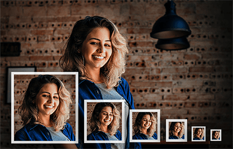 portfolio photo cropping & resizing service
